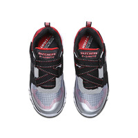 SKECHERS 斯凯奇 90587L 男童鞋防滑缓震大童鞋  28.5 黑色