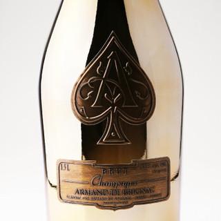 Champagne Armand de Brignac 黑桃A香槟 法国原瓶进口香槟酒 黑桃A 黄金香槟 (750mL、清新)