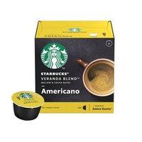 星巴克 咖啡胶囊 Veranda Blend美式黑咖啡(大杯) 102g(雀巢多趣酷思咖啡机适用)两盒96元 *2件