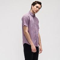 BESSSHIRT 佰杰斯 P01A16-00918 男士短袖衬衫