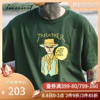 INNERSECT 潮牌 311208 男士THRASHER 潮流前卫街头印花短袖T恤