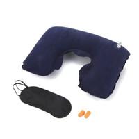 HAGGIS 旅游三宝 充气枕耳塞眼罩三件套 混色