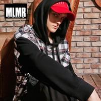 MLMR 218302512 男士格纹连帽卫衣