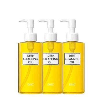 DHC 蝶翠诗 橄榄卸妆油 200mL*3 深层清洁温和天然护肤套装 【官方直售】 zh860400