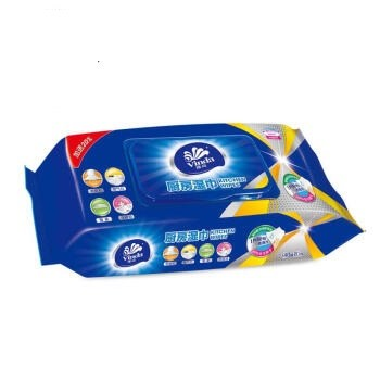 Vinda 维达 厨房湿巾 48片*3包 去油污  厨房用纸