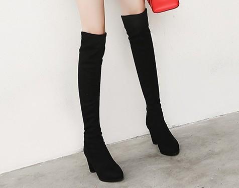 KumiKiwa 卡米 女士过膝长靴