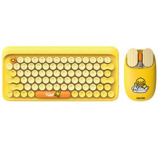 LOFREE 洛斐小黄鸭  圆点蓝牙机械无线复古键盘 小黄鸭键鼠套装