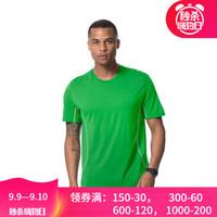 新西兰icebreaker美丽诺羊毛男士户外短袖圆领休闲轻质男士 速干t恤 绿色101044303 L