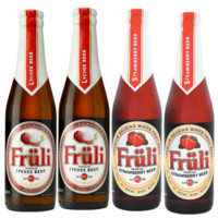 Fruli 芙力 草莓味2瓶+荔枝味2瓶 (330mL、4.1、瓶装、14)
