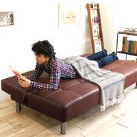 移动专享 : 泽臣 现代简约PU皮沙发床 1.65m