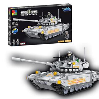 WOMA 沃马 C0124 积木坦克车玩具拼插拼装儿童玩具 阿玛塔T14主战坦克(1066片)