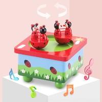 New Classic Toys 儿童木质卡通机械音乐盒 八音盒  圣诞新年送礼好物