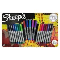 Sharpie 超细笔尖 彩色永久记号笔 21支装