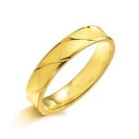 周生生黄金足金精工款情侣对戒款戒指男女款 78206R计价