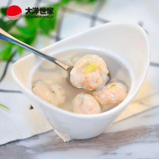 大洋世家 虾滑150g(芹菜味) 袋装 虾肉含量85%以上 火锅丸子 火锅食材 丸子汤