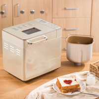 东菱(Donlim)烤面包机家用 早餐机 全自动和面机 涡轮电机驱动仿古法手工揉面DL-TM018 *2件