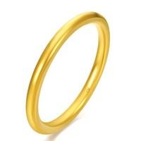 CHOW TAI FOOK 周大福 简约至上 婚嫁 足金黄金戒指 F185172 78 11号 约2.9克