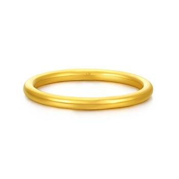CHOW TAI FOOK 周大福 简约至上 婚嫁 足金黄金戒指 足金 13号 约3.00g   F185172
