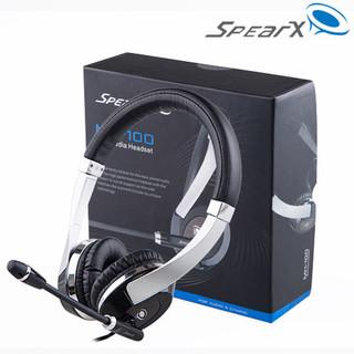 SpearX 声特 MH-100-BK 头戴式耳机电脑通用语音监听话务耳机 黑色