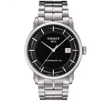 TISSOT 天梭 男表 瑞士豪致系列自动机械手表 商务休闲防水男士手表钢带腕表 T086.407.11.051.00