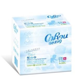 COROU 可心柔 V9 婴儿柔润保湿抽纸 3层60抽*5包(130*180mm) *12件
