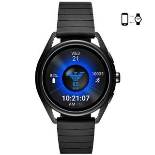 EMPORIO ARMANI 手表 欧美智能触屏腕表运动男独立GPS定位心率监测快充新品 ART5017