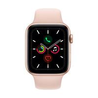 Apple 苹果 Watch Series 5 GPS+蜂窝款 智能手表 44mm 金色铝金属表壳 粉砂色运动型表带 (GPS)