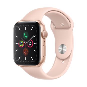 Apple 苹果 Watch Series 5 智能手表 (GPS、金色铝金属表壳、粉砂色运动型表带、44毫米)