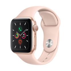 Apple 苹果 Watch Series 5 智能手表 (GPS、金色铝金属表壳、粉砂色运动型表带、40毫米)