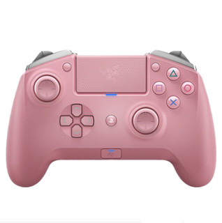 RAZER 雷蛇 RAIJU飓兽 PS4蓝牙无线有线电脑幻彩游戏手柄  粉色
