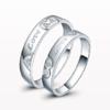 七可 爱相伴情侣戒指纯银对戒一对男女银饰    镶施华洛世奇   F001