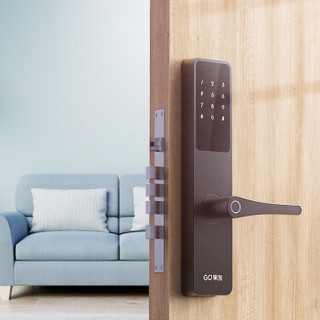 果加 指纹锁 防盗门密码锁 智能锁 电子锁 门锁 智能门锁 电子门锁M1