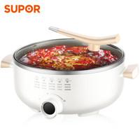 苏泊尔 SUPOR  多 炒锅电煮锅不粘电饼铛煎烤机5.5L电热锅 JD30D818