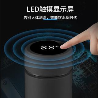 wujo 五江 不锈钢保温杯 440ml  黑色