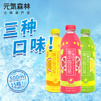 元気森林 果的每日茶 柠檬石榴百香果绿茶 500ml*15瓶