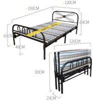 顺优 折叠床 四折单人床 午睡午休床 陪护床现代简约简易床 120cm宽 SY-076