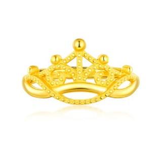 六福珠宝 足金为爱加冕黄金戒指女款活口戒  2.78克    GMGTBR0017