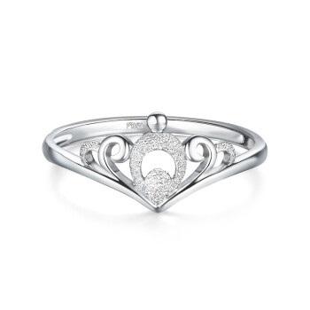 六福珠宝 HIPTBR0002 Pt950 皇冠铂金戒指