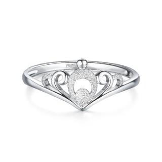 六福珠宝 HIPTBR0002 Pt950 皇冠铂金戒指 1.56克