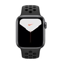 Apple 苹果 Watch Nike Series 5 智能手表 (44 mm、深空灰色铝金属表壳、煤黑配黑色Nike 运动表带、GPS + 蜂窝网络)