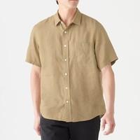 MUJI 无印良品 M9SC423 男式短袖衬衫