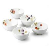 中亚Prime会员 : NARUMI 鸣海制陶 Lucy's Garden系列 骨瓷碗5件套 11cm