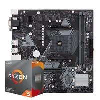 AMD 锐龙 5 Ryzen 5 3600 CPU + ASUS 华硕 PRIME B450M-K 主板 套装