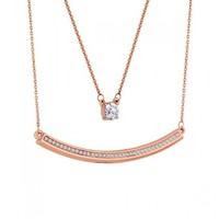 Diamond Style 钻石风尚 玫瑰金双层项链