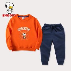 史努比 儿童卫衣裤套装