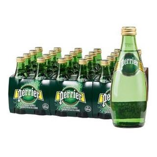 Perrier 巴黎水 气泡矿泉水 原味天然矿泉水 330ml*24瓶 *2件