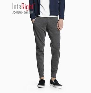 InteRight 男士运动休闲卫裤 (花灰、XL)
