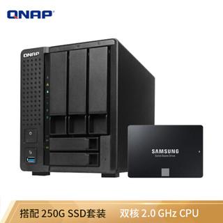 威联通TS-551 双核2.0GHzCPU 五盘位NAS网络存储 AES-NI 加密 4K影片转档 (内含SSD固态硬盘)