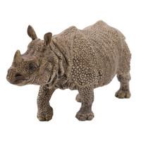 思乐儿童玩具男孩女孩仿真动物模型早教认知野生动物系列独角犀14816