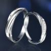 KADER 卡蒂罗 925银情侣戒指纯银一对男女士戒子表白 开口一对    QL050